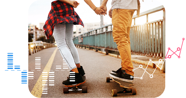Brand Love - Skateboarders holding hands