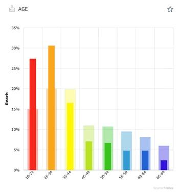 Seltzer audience age graph