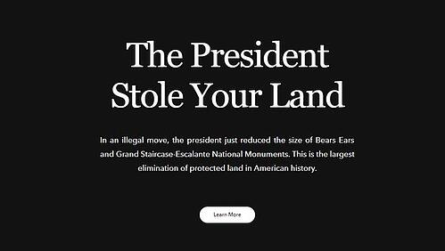 Patagonia Bear Ears Homepage (From USA Today)