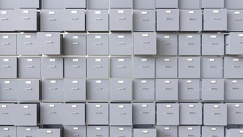 Data collection filing cabinets