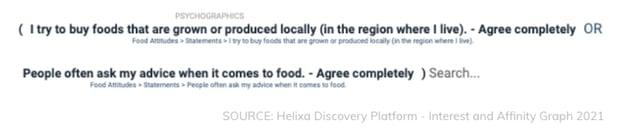 Helixa-Proxy audience_farmers market foodies