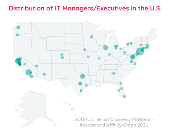 Map of IT Professionals for B2B Blog
