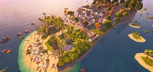 Havaianas Fortnite flip flop island